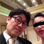 結婚式にて